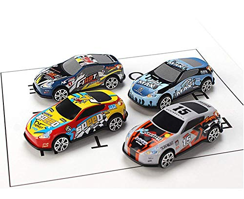 aiyuyu 4PCS Mini Toy Car Race Car Metal Diecast Toys Model Cars Assorted Vehicle Set Cake Topper Decoration Gift for Boys Girls