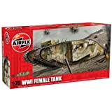 Hornby Airfix A02337 1:76 Scale WWI Female Tank Military Vehicles Classic Kit Series 2