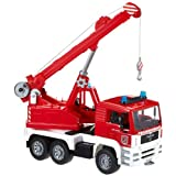 Bruder MAN Fire engine crane truck with Light and Sound Module