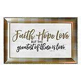 Faith Hope Love Framed Wall Art