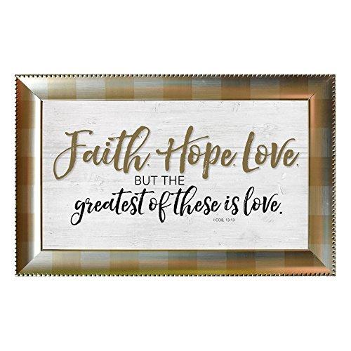 Faith Hope Love Framed Wall Art by James Lawrence
