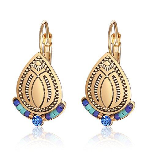 Earrings Boho Vintage Beaded Gypsy Copper Earring for Women and girls ()