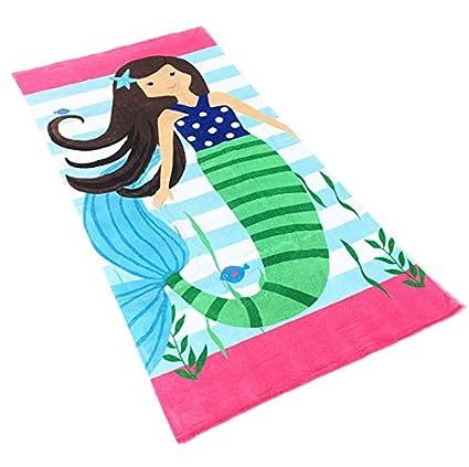 Comfysail Niños Toalla de Playa 100% Algodón Toalla de Baño para Natación, Playa,
