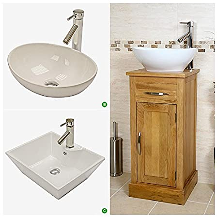 small vanity unit with sink. Compact Oak Cloakroom Vanity Unit With Basin  Amazon Co Uk Kitchen