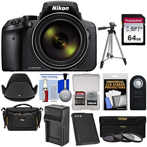 Nikon Coolpix P900 Wi-Fi 83x Zoom Digital Camera with 64GB Card + Battery & Charger + Case + Tripod + 3 Filters + Hood + Kit (Digital P530 Camera Nikon)