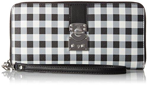 GUESS Britta Checker Large Zip Around Wallet, One Size