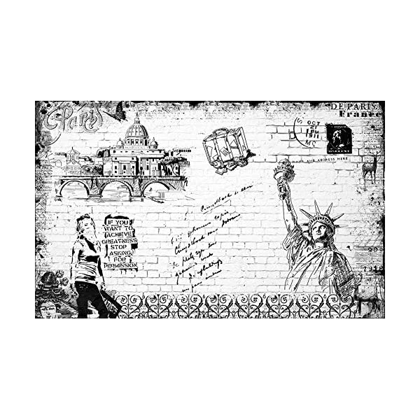 LIWALLPAPER-Carta-Da-Parati-3D-Fotomurali-Costruzione-Dei-Graffiti-Del-Muro-Di-Mattoni-Bianchi-Neri-Camera-da-Letto-Decorazione-da-Muro-XXL-Poster-Design-Carta-per-pareti-200cmx140cm