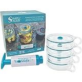 vacuum jar pump - Fermentology Simply Sauer Vegetable Fermentation Kit for Wide Mouth Mason Jars – Oxygen Pump and Airlocks – 5 Piece Kit