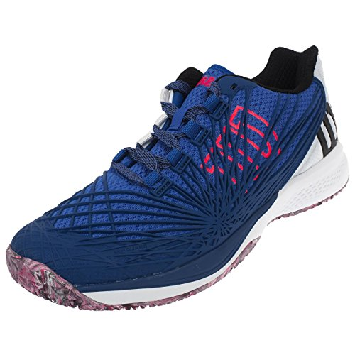 0 KAOS Wilson 2 de Dazzling 000 Chaussures White Neon Tennis Homme Bleu Red Blue qqrE5d