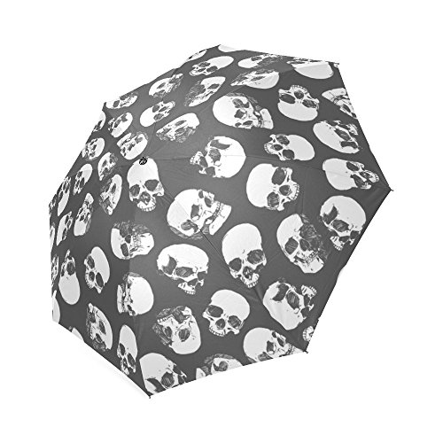 [Sugar Skull Dia De Los Muertos 100% Polyester Pongee Waterproof Foldable Travel Fashion Umbrella] (Catrina Sugar Skull Costume)