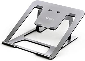 Besign Adjustable Aluminum Laptop Stand, Ergonomic Riser Notebook Computer Holder Stand Compatible with Apple MacBook Air Pro, MacBook Air, Dell, HP, Lenovo More 10-15.6