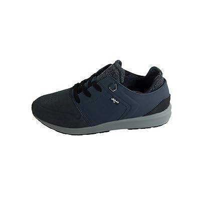 Mens Black Tab Runner Low-Top Sneakers, White Levi's
