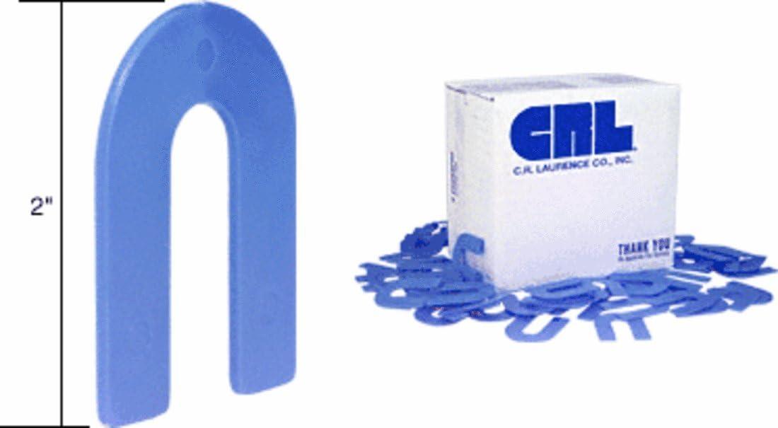 Blue 1//16 X 1-1//2 X 2 100//Package Plastic Horseshoe Shims Tile Spacers