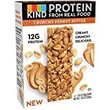 KIND Protein Bars, Crunchy Peanut Butter, Gluten Free, 12g Protein, 1.76oz, 4 Count (6 Pack)
