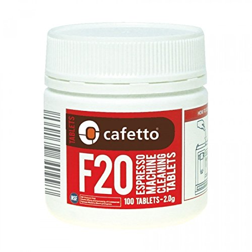 Cafetto F20 High Performance Espresso Machine Cleaning Tablets (100 Count Tablets Jar)
