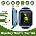Smart Watch for Kids - Smart Watches for Boys Smartwatch GPS Tracker Watch Wrist Android Mobile Camera Cell Phone Best Gift for Girls Children boy Pink Blue Yellow (Yellow) (Blue)