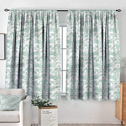 RenteriaDecor Aqua,Curtains and Drapes Wave Like Round Swirls 42