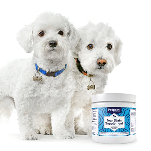 Petpost   Tear Stain Remover Supplement for Dogs - Eyebright & Lutein Powder for Eye Tear Stain Treatment and Immune Support - Maltese Fur Angels Approved - 200 Grams (7 Oz.) (Cheese Flavor) by Petpost (Image #1)