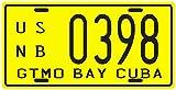 Cuba Pre-revolution Guantanamo Bay Gitmo GTMO 1950's Replica Metal License Plate
