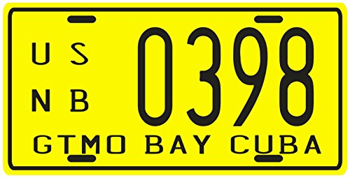 Cuba Pre-revolution Guantanamo Bay Gitmo GTMO 1950's Replica Metal License Plate