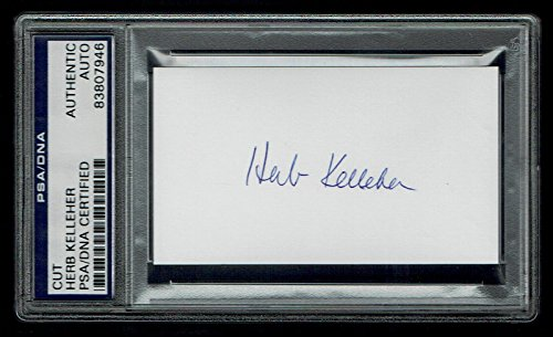 herb-kelleher-signed-autograph-2x35-cut-founder-southwest-airlines-psa-slabbed