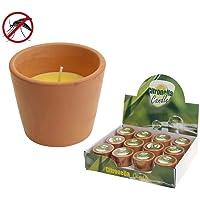 Citronella Candle 07935Vela citronela + Olla Terracota marrón