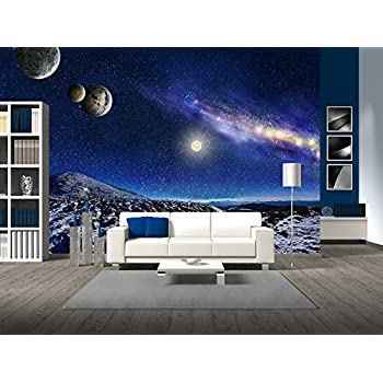 Brewster 8 019 EarthMoon 8 Panel Mural with Paste 12 Foot 9 Inch