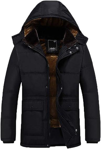 Luiyy Jacket Chaqueta Parka para Hombre Abrigos de Algodón ...