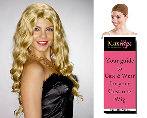 [Bundle 3 items: Geri Spice Girls Fergie Halliwell Eyed Peas by Enigma Costume Wigs,Mixed Blonde, Wig Cap, MaxWigs Costume Wig Care] (Pea Costumes)