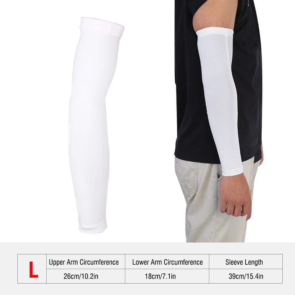 Dilwe Brazo Cubierta de Protecci/ón UV al Aire Libre 1 Par Mangas del Brazo El/ásticas Sudor Absorbente 2 Colores