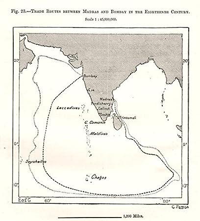 Amazon.com: Madras (Chennai) - ay (Mumbai) 18C trade routes ... on