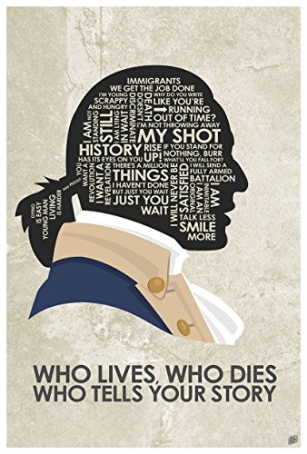 Hamilton 'WHO Lives, WHO Dies WHO Tells Your Story Word Art Print Poster (12