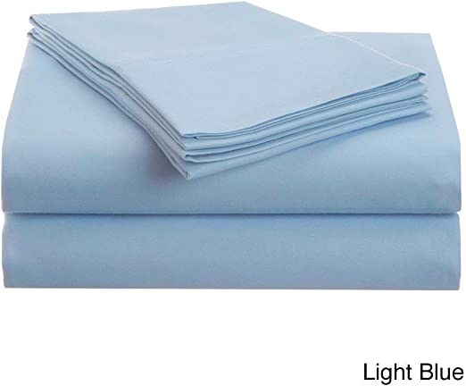 Split Bed Sheet Set All Size 1000 TC Egyptian Cotton Turquoise Solid 5 PCs