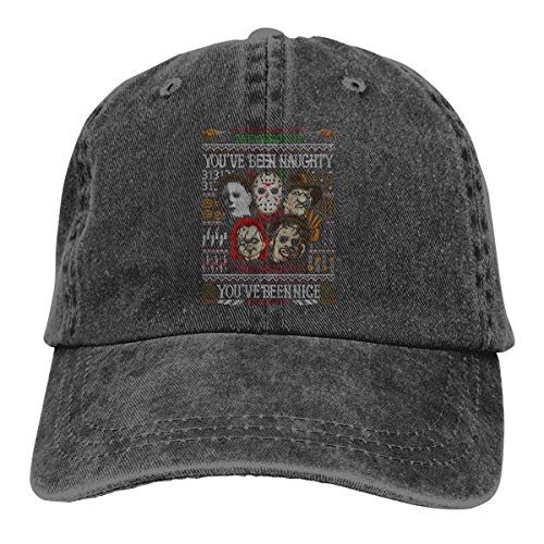 Mans Women's Stirking Michael Myers and His Accomplices - Halloween Adult Cowboy Hat Black