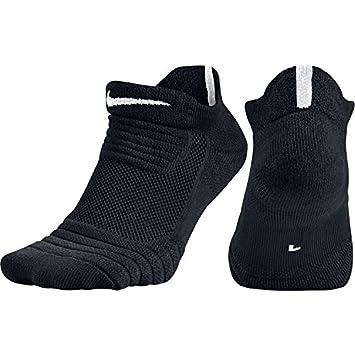 Nike Elite versatilidad bajo Baloncesto Calcetines (Negro/Blanco/Blanco, pequeño)