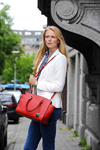 Mocnikova Luciana Main Sacoche & Rouge Sac Schoulder Galets Veau
