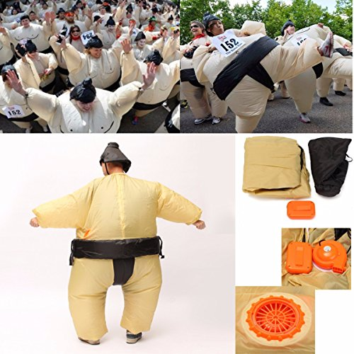 [SICA SUMO Fancy Dress Fan Inflatable Costume Suit Party Outdoor Activity Equipment 170cm Unisex] (Easy Movie Fancy Dress Costumes)