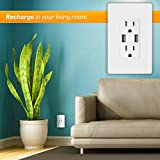 TOPGREENER 4A High Speed USB Wall Outlet, 15A