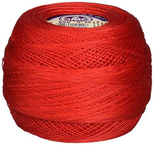DMC 167GA 30-666 Cebelia Crochet Cotton, 563-Yard, Size 30, Bright Red by DMC (Image #1)