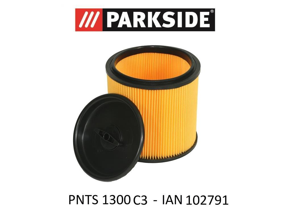 /Ian 102791 Park Side Filtro a pieghe con chiusura a baionetta per mantenere asciutto bagnato aspirapolvere PNTS 1300/C3/