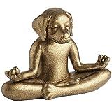 Pier 1 Imports Gold Terracotta Yoga Meditation Dog Figurine