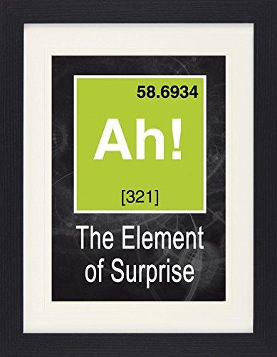 1art1 114310 Spaß - Ah, The Element of Surprise, Das Überraschungs-Element Gerahmtes Poster Für Fans Und Sammler 40 x 30 cm 1art1 114310 Spaß - Ah