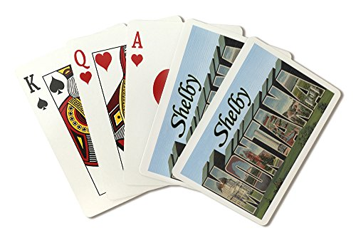 - Shelby, Montana - Large Letter Scenes (Playing Card Deck - 52 Card Poker Size with Jokers)