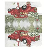 Christmas Red Truck Snowman Mailbox Cover Standard