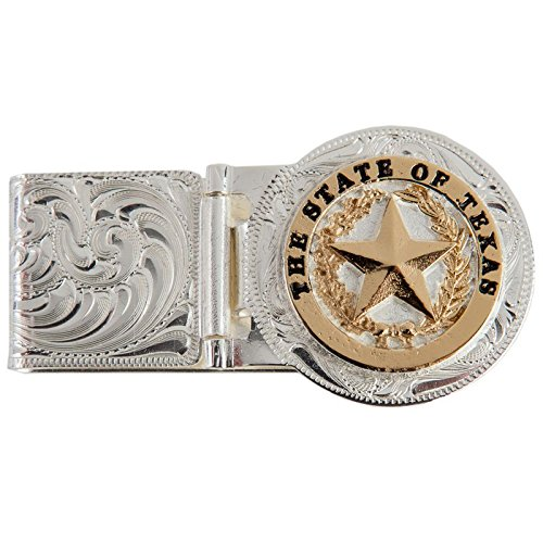 Montana Silversmiths Men's Texas Star Hinged Money Clip Silver One Size