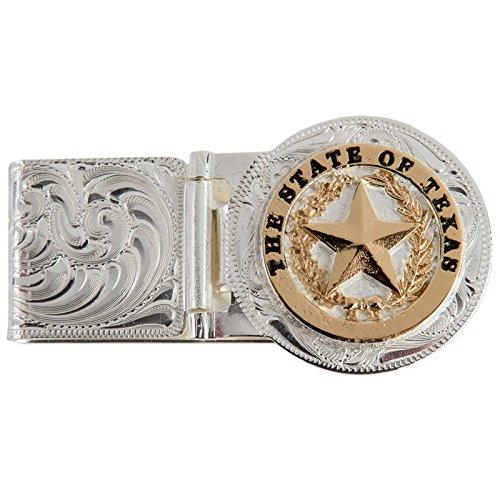 Montana Silversmiths Men's Texas Star Hinged Money Clip Silver One Size (Best Hinged Money Clip)