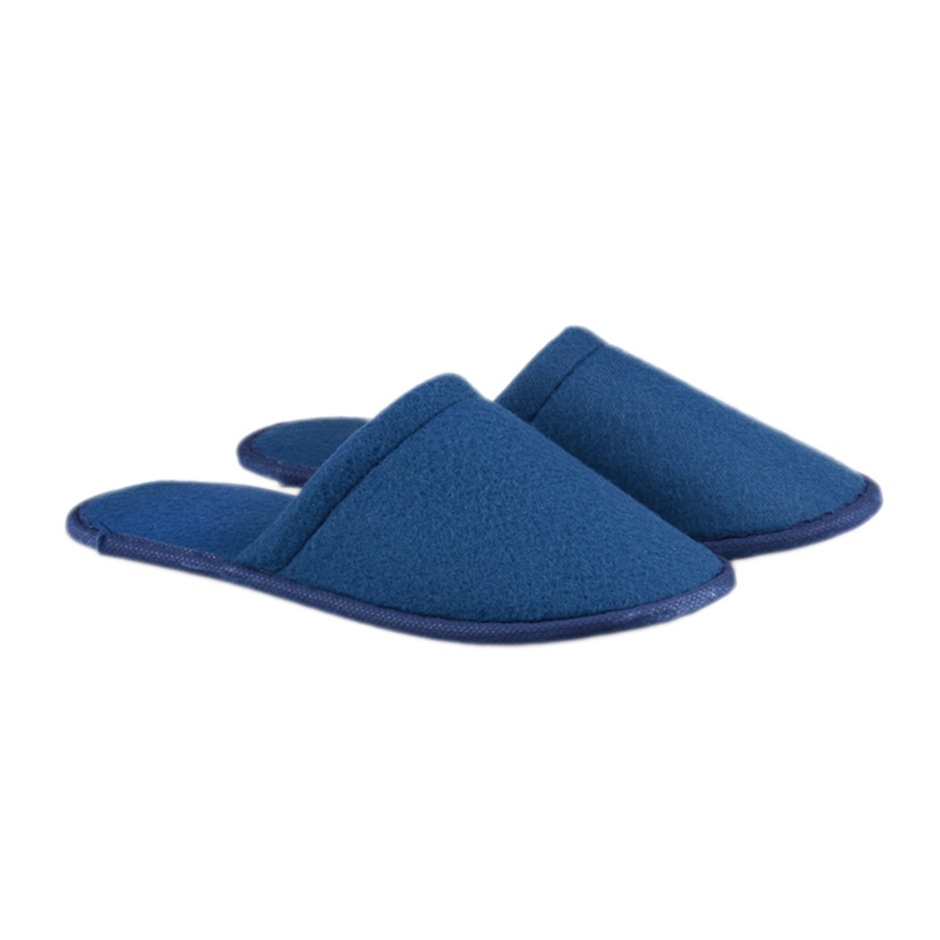 Raylans 6pairs Unisex Closed Toe Home Travel Disposable Cotton Spa Slippers Blue