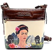 Authentic Frida Kahlo Jungle Series Cross Body Messenger- Brown
