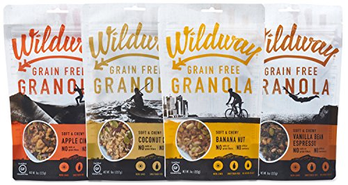 - Wildway Grain-free Granola Variety Pack | Gluten-free, Paleo, Keto, Plant-based, Non-GMO, No added sugar| 4-pack, 8oz