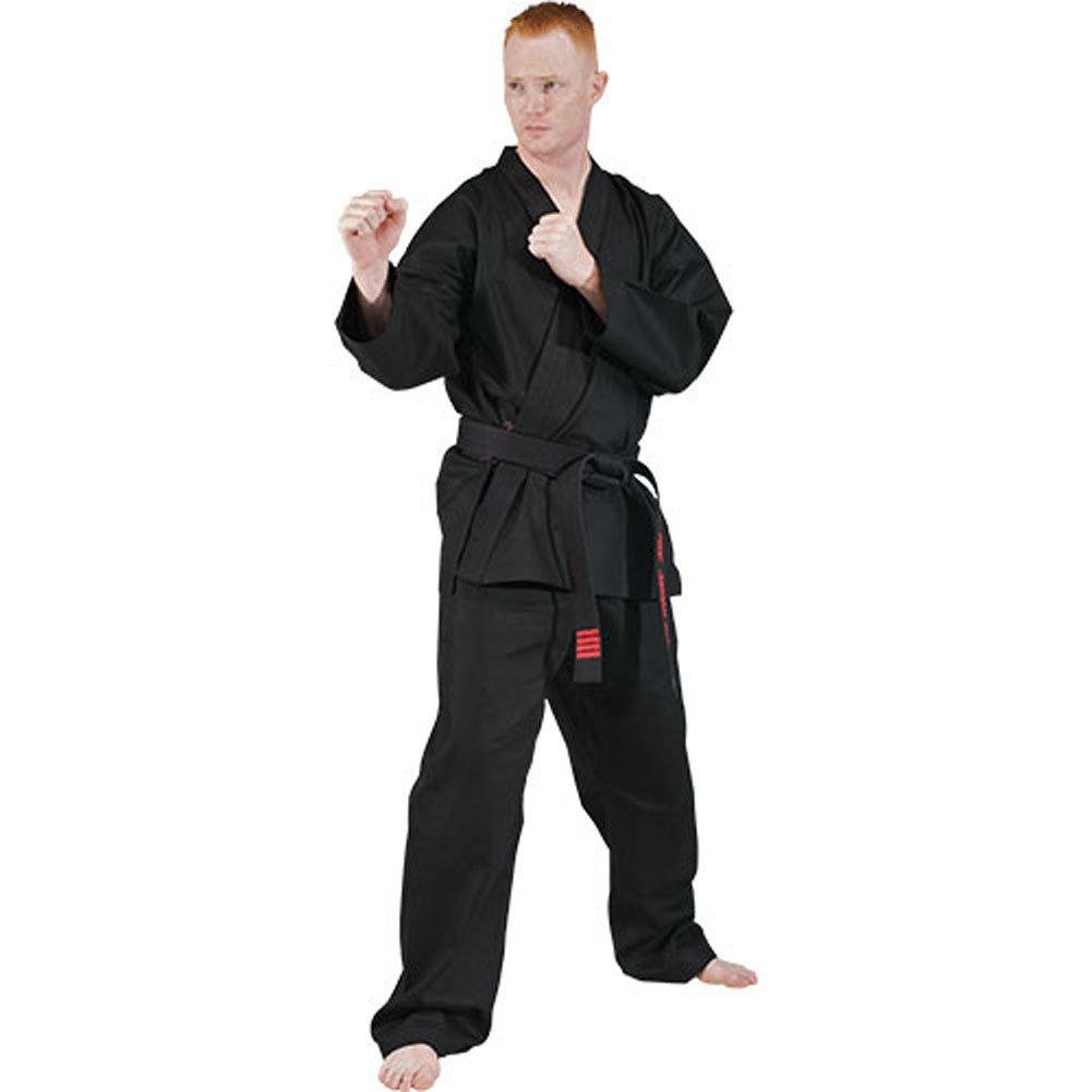 Tiger Claw 7.5オンス学生空手Uniform B0000C6D8N 2 ブラック ブラック 2